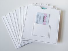 NEW Design - 20 Stitched CD/DVD Case / Sleeve with Business Card Pocket (White). $45.00, via Etsy.