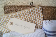 Gift design: www.marigoldgrey.com Bridal Party | Bridal Party Gifts | Bridesmaid Gifts | Custom Bridesmaid Gift | Gift Design | Bridesmaid | Maid of Honor | Matron of Honor | Junior Bridesmaid | Flower Girl | Bridal Party Ask | Bridesmaid Ask | Bridal Party Appreciation | Gift Box | Gift Basket | Gift Bag | Monogram | Robe | Turkish Towel | Spa Gift | Calligraphy | Gift Tag Image: Marigold & Grey Calligraphy: Poppy & Scooter