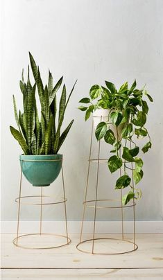 This Incredibly Easy DIY Will Make Your Home Feel Like Spring Right Now diy home decor crafts Spring Decor Ideas: DIY Plant Stand Metal Plant Stand, Diy Plant Stand, Plant Stands, Diy Simple, Easy Diy, Plantas Indoor, Home Decoracion, Diy Casa, Decoration Plante