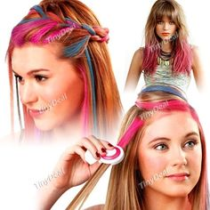 4-in-1 Temporary Hair Dye Pastel Chalks