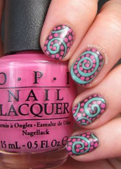 Adventures In Acetone: Swirl Nail Art With OPI Nordic Collection!