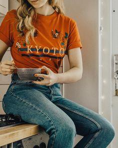 Urban Outfitters Kyoto 1990 T-Shirt | Urban Outfitters | Women's | Tops | Graphic Tees via @sarahmantelin #UOEurope #UrbanOutfittersEU #UOonYou