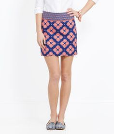 Shell Print Skirt  @Bows Pearls & Curls   I think Blair would wear this skirt from Vineyard Vines!