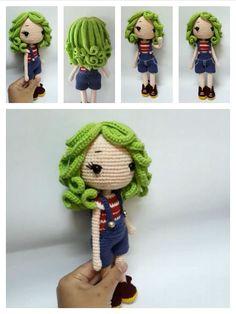 Knitting Dolls Free Patterns, Knitted Dolls Free, Doll Amigurumi Free Pattern, Crochet Doll Pattern, Amigurumi Doll, Crochet Dolls, Crochet Patterns, Crochet Doll Tutorial, Diy Crochet