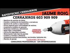 CERRAJEROS JAUME ROIG VALENCIA 603 909 909