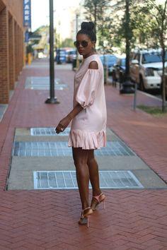 DIY cut out shoulder silk dress – Beaute' J'adore