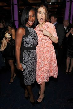 Uzo Aduba and Sarah Paulson 29th Annual Lucille Lortel Awards Afterparty