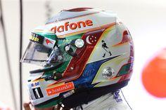 ルイス・ハミルトン F1シンガポールGP 特別ヘルメット 【 F1-Gate.com 】