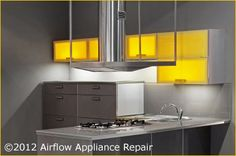 Airflow Appliance Repair can help you with any of your range hood issues and is an expert at repairing most brands of range hoods including Broan, GE Profile, GE Monogram, Kenmore, NuTone, Vent-A-Hood, Viking, Whirlpool, Wolf, Zephyr and most types of range hoods including under cabinet (vented and nonvented), remote-controlled, microhood, wall chimney, downdraft, and island location.  For more information on our services, please call our certified repair center at 800-734-1557.