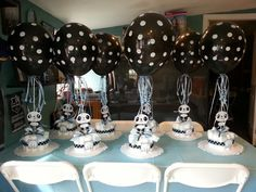 Panda center pieces for baby shower