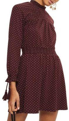 Topshop Polka Dot Shirred Waist Dress (affiliate link)