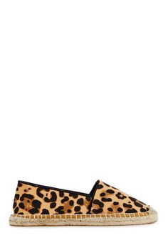 Espadrilles tissu  imprimé léopard Justfab