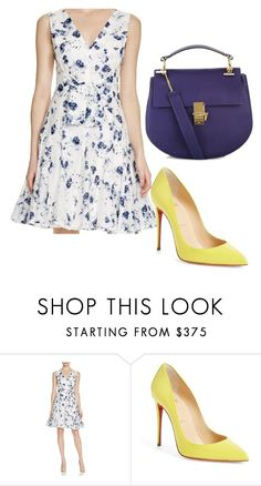 """""""Yellow!"""" by voguedarling3 ❤ liked on Polyvore featuring Rebecca Taylor, Christian Louboutin, Chloé, popofcolor, Louboutin, chloe and rebeccataylor"""