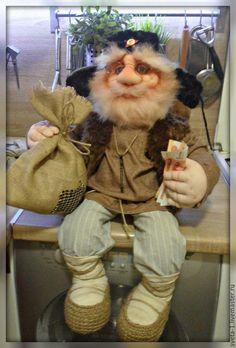 Купить домовой - коричневый, домовой, оберег для дома, подарок на любой случай, интерьерная кукла, капрон