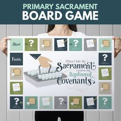 """Sacrament Game- """"When I Take the Sacrament I Renew My Baptismal Covenants.""""  Perfect for Sharing Time or Family Home Evening"""