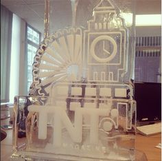 N-ice! So, this just turned up in our office courtesy of Vodka Luge London - apologies if the mag's not out on Monday, it's gonna to be tricky to get the editorial team to finish their work now...