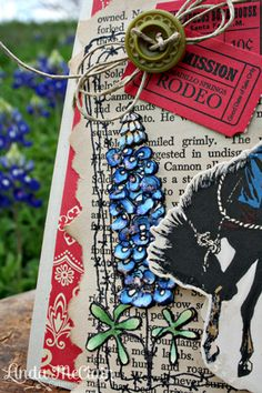 Bluebonnets from Catered Crop--fun card--love her layers!!!   :-)