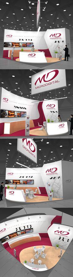 Microdigital exhibition stand on Behance