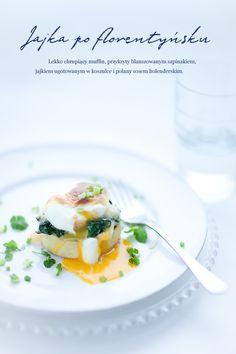 Muffiny angielskie - Przepis - Jajka po florentyńsku - Jajka po benedyktyńsku English Muffin