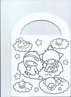 Little twin stars colouring sheets collection pinterest for Little twin stars coloring pages