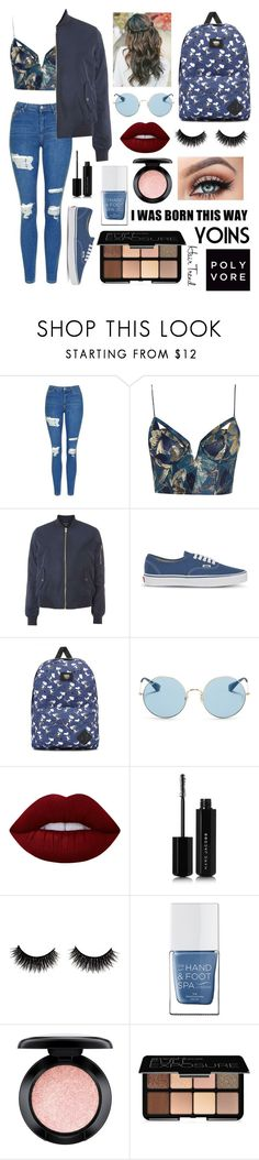 """""""Blue💙"""" by elleigh213 ❤ liked on Polyvore featuring Topshop, Zimmermann, Dorothy Perkins, Vans, Ray-Ban, Lime Crime, Marc Jacobs, The Hand & Foot Spa, MAC Cosmetics and Smashbox"""