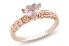 Heart shaped Morganite in pink gold. Prettiness overload!! LOVE it!