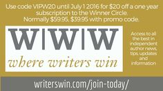 WWW Where Writers Win discount offer for BEA Indie Author Fringe. Get a discount on one year subscription.