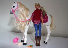 Barbie DreamHorse Doll and Horse Review | Emily and Indiana. Perfect gift for preschoolers / kids this Christmas!
