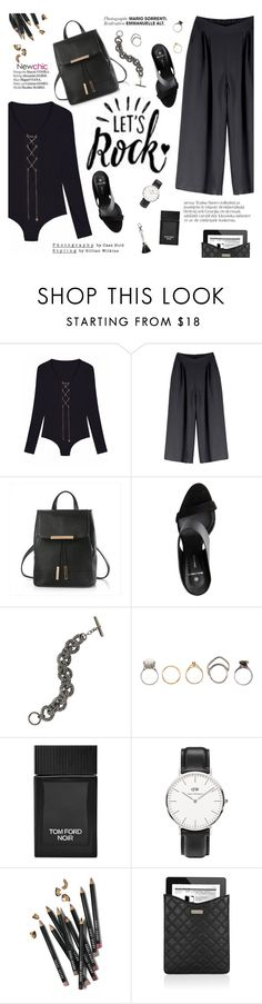 """Let's rock"" by punnky ❤ liked on Polyvore featuring Pieces, Bridget King, Iosselliani, Tom Ford, Daniel Wellington, Bobbi Brown Cosmetics, Marc Jacobs, Haute Hippie, F and rockerchic"