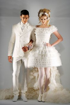 Lara Stone & Baptiste Giabiconi for Chanel autumn/winter 2009-10 haute couture show in paris.