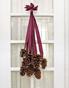 adorno navideño simple y natural