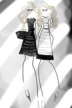 Wearing Prada's Summer 2013 Capsule Collection #fashionillustration #bybc #prada