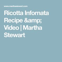 Ricotta Infornata Recipe & Video | Martha Stewart