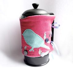Cafetiere cosy coffee cosy by SewRealicoul at Folksy.com