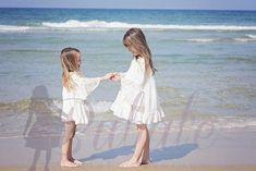 Flower Girl Dresses Boho, Lace Flower Girls, Beach Dresses, Little Girl Dresses, Lace Flowers, Barefoot Wedding, Boho Wedding, Off White Lace Dress, Boho Chic