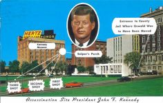 On Friday, November 22, 1963, a shockwave ran through the whole nation, followed by grief. President John F. Kennedy was shot as he rode in a motorcade through the streets of Dallas, Texas. Postcard USA