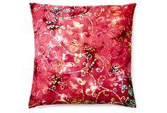 Edie elegant 20x20 Cotton Pillow, Multi on OneKingsLane.com