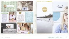PL2014 | WK8 (Main PL Kit Only) by Ali Edwards at @Studio_Calico Project Life spread #SCofficehours