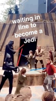"""And you can currently experience the all-new Jedi Training, and """"Star Wars: A Galaxy Far, Far Away"""" stage show, featuring Kylo Ren, Chewbacca, Darth Vader and more. 