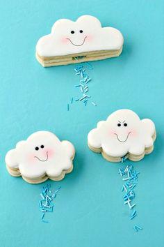 How to Make Cloud Cookies that Actually Rain via www.thebearfootbaker.com