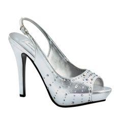 8357ab33065 Touch Ups Brooke Shoe Silver  73.99 Stunning peep toe high heeled  slingback