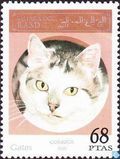 Postage Stamps - Fantasy country - Sahara OCC SADR, Cats