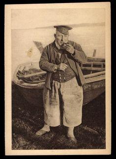 Mönchgut Rügen, Fischer mit Pfeife in Tracht, WHW