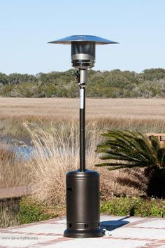 60788 Fire Sense Promotional 46,000 BTU Patio Heater With Piezo Igniter