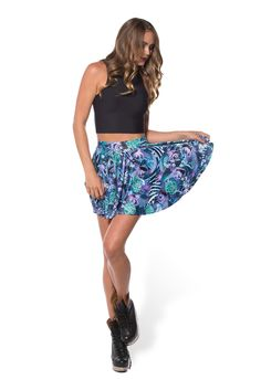 Koi Purple Cheerleader Skirt (WW $65AUD / US $60USD) by Black Milk Clothing