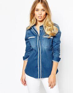 Image 1 - Pepe Jeans - Chemise en jean style 70's