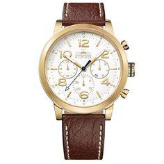 Relógio Tommy Hilfiger Masculino Couro Marrom - 1791231