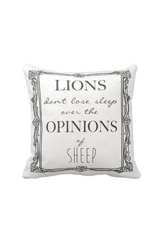 Pillow Cover Inspirational Quote Lions Don't Lose
