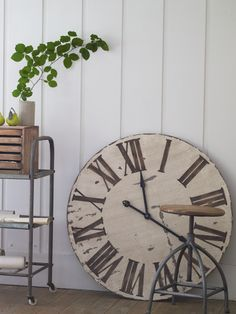 Love it—oversized wooden wall clock (3' dia)❣ Cox & Cox