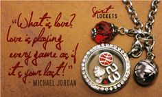 Slam Dunk!! Personalize your Spirit Lockets with pride slides, floating charms and dangle charms to show off team spirit or player pride.